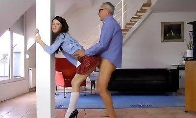 Old Man Fucks Nasty Schoolgirl...F70