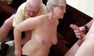 Elderly husband fucked with youthful man
