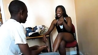 Youthfull real African amateurs inhale and fuck
