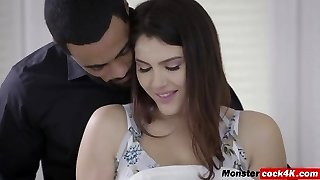 Valentina Stroking Dark-hued Cock With Mounds And Banged