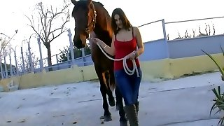 Chesty girl has sex with a policeman