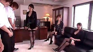 Crazy Japanese dame Leila Aisaki, Akari Hoshino, Risa Murakami in Nasty Lingerie, Fetish JAV vid