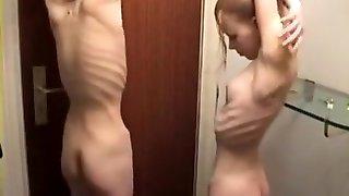 eksootiline kogenematu kõhn, tuhk-blond hardcore libistage