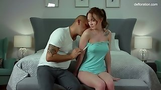 Sensual honey Maria Stupor is making love for the first time