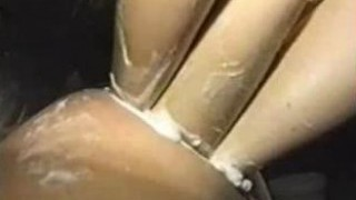 pied poing double:triple anal fist.