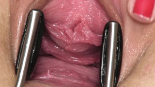 Open sweetie  gaping, gyno, real orgasm, playthings, getting off