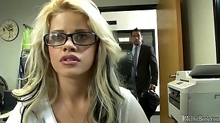 If the gorgeous, glasses wearing, blondie assistant Jessa Rhodes, got a job in