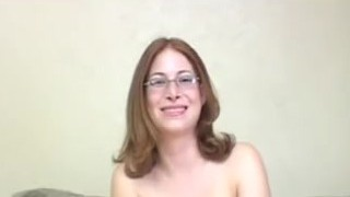 Nerdy sandy-haired with glasses