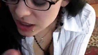 I love glasses girl