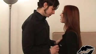 Sexi Ginger-haired Goth Chick Gets Fucked