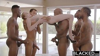 BLACKED Kendra Sunderland BBC interracial Gang-fuck!!