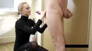 Cum on clothes for the uber-sexy blond