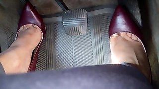 Driving in heels