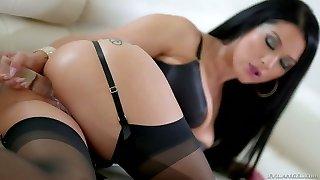 Shagging hot and bodacious stunner Katrina Jade is fucked by horny Bbc