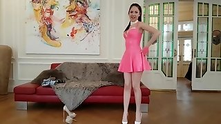 19 years elderly REBECCA VOLPETTI leather spandex and high heels