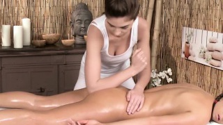 Erotic girl/girl massage with european models