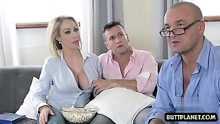 Immense tits pornstar titty fuck and cum in mouth