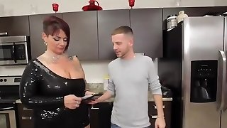 Screwing hard this chubby redhead Milf with big tits