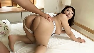 Busty Asian milf Hinata Komine rides a dick with her thick booty