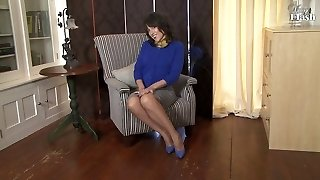 Older Lady in Nylons
