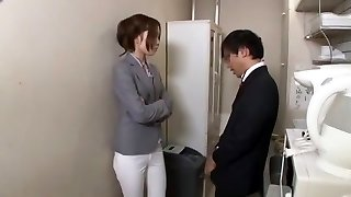 Best Japanese model Chiharu Nakai in Crazy Pussy Eating, Office JAV movie