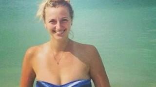 Ceca Petra Kvitova vincitore di Wimbledon e pompino subacqueo