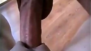 Big dick fucking a tight poon in close up action