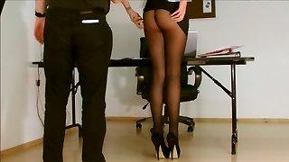 Secretary pantyhose unveiled.