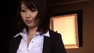 Greatest Asian chick Mona Asamiya in Exotic Double Penetration/Futa-ana, Stockings/Pansuto JAV scene