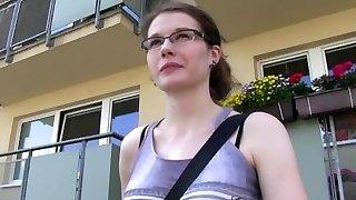 PublicAgent Glasses babe fucks in bathroom