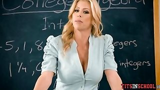 Poking His Hot Blonde Math Teacher