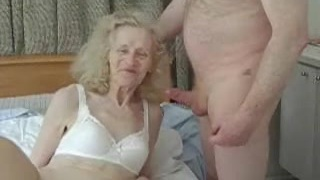 Inexperienced ugly granny gets banged silly