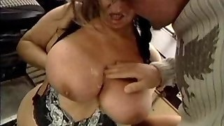 UGLY GRANNY WITH HUGE Mammories Pummeled  BY THE MECHANIC 1