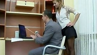Fuckfest in the office with Russian chick