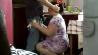 Chubby Cuckold MILF caught on hidden camera