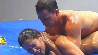 Hot mixed wrestling