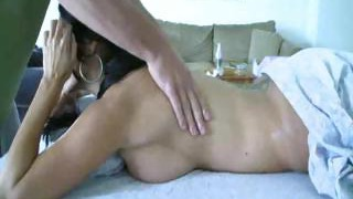 Red-hot Brunette Gets A Massage