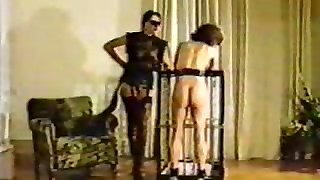Mistress tortures and brands new nymph slave