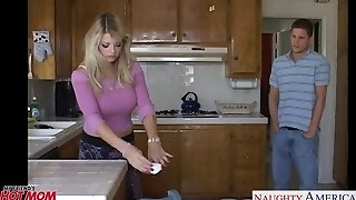 Huge-chested mom Vicky Vette take chisel in POV style