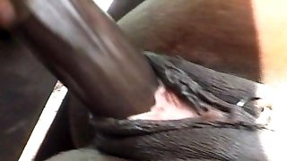 Ebony ass-fuck nailing is impressive