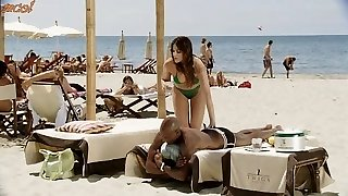 Spanish brunette white dame with black lover - Softcore Bi-racial