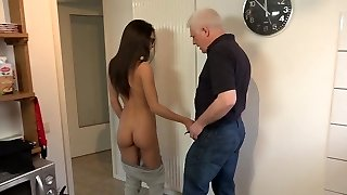 Young Petite Tits Gonzo Student gets fucked by old guy