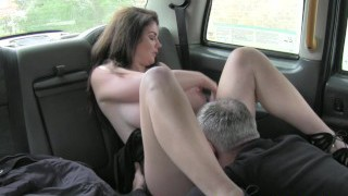 FakeTaxi Big tits and stellar eyes takes prick