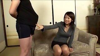 Exotic Japanese chick Rin Saotome, Misa Takada, Azumi Harusaki in Fabulous Big Shaft, Handjobs JAV movie