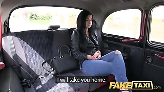 Faux Taxi Prague beauty spraying on cam