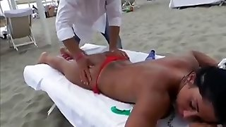 Voyeur Beach Rubdown Hot Sexy Asses