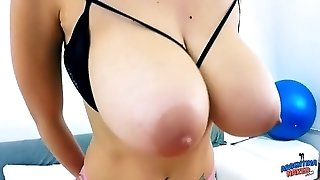AMAZING Huge TITS and HUGE Inborn PUSSY Lips on Lean TEEN