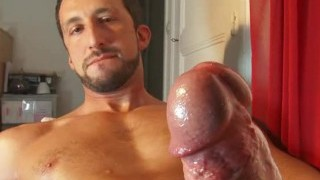 A very splendid Italian stalion get drained his huge stiffy in spite of him !