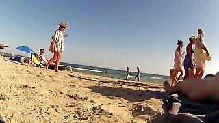 Incredible first-timer CFNM, Beach porn clip