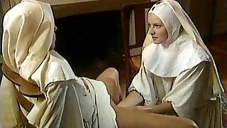 Classic Lesbian Nuns -  Superb Handballing